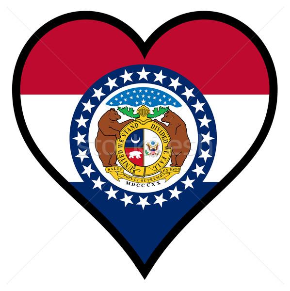 Amor Missouri bandeira coração branco Foto stock © Bigalbaloo
