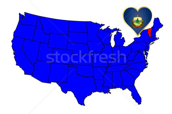 Vermont ícone conjunto mapa Estados Unidos Foto stock © Bigalbaloo