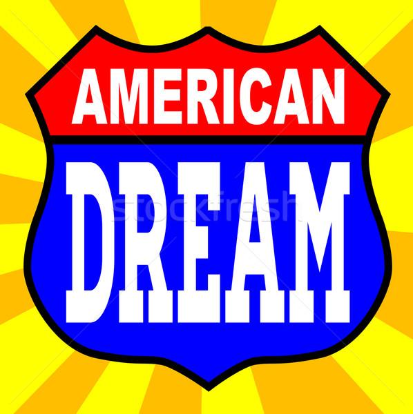 Americano sonho assinar route 66 estilo sinaleiro Foto stock © Bigalbaloo