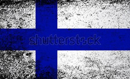 Flag of Finland Grunge Stock photo © Bigalbaloo
