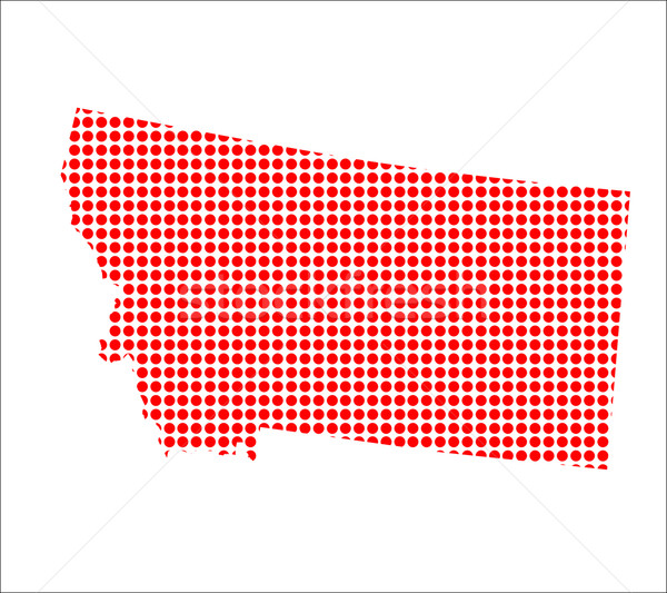 Red Dot Map of Montana Stock photo © Bigalbaloo