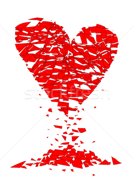Shattered Lovers Heart Stock photo © Bigalbaloo