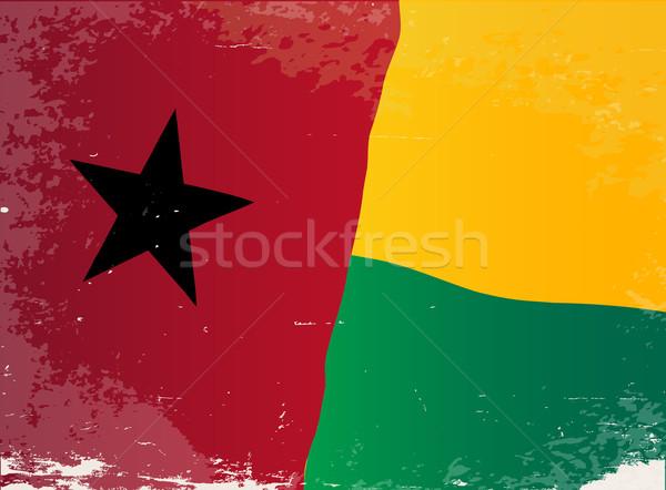 Guinea Bissau Flag Grunge Stock photo © Bigalbaloo