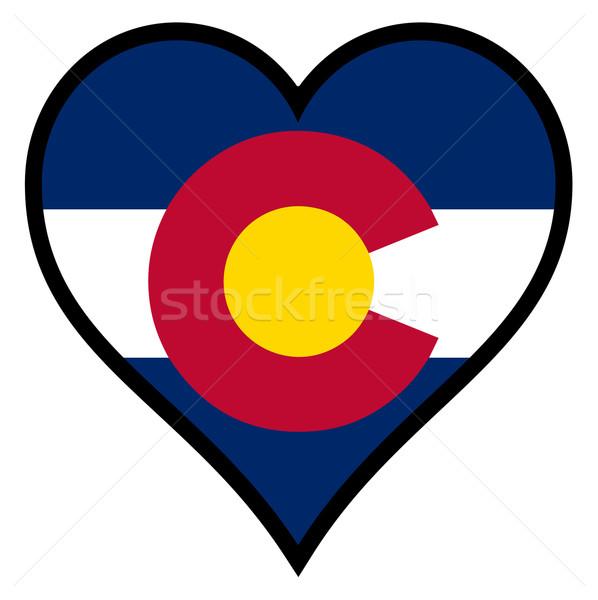 Amore Colorado cuore tutti bianco bandiera Foto d'archivio © Bigalbaloo