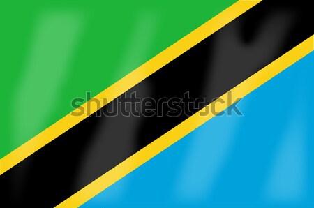 Tanzanya bayrak Afrika ülke sanat Stok fotoğraf © Bigalbaloo