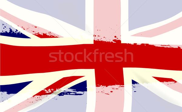 UK Flag Splash Stock photo © Bigalbaloo