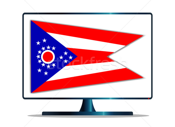 Stock photo: Ohio Flag TV