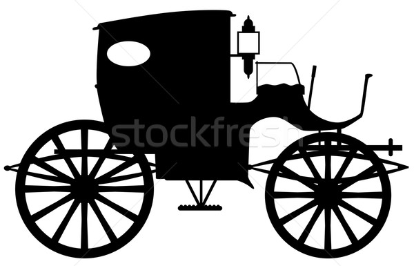 Old Carriage Silhouette Stock photo © Bigalbaloo