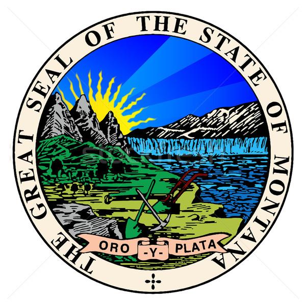 State Seal of Montana Stock photo © Bigalbaloo