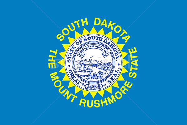 Vlag South Dakota tekening grafische USA Stockfoto © Bigalbaloo