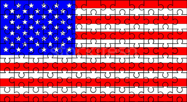 Stars and Stripes Jigsaw Stock photo © Bigalbaloo