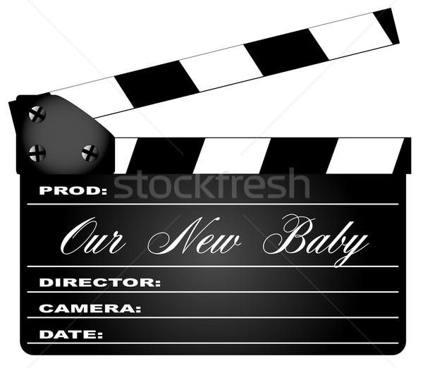Nuevos bebé típico película leyenda aislado Foto stock © Bigalbaloo