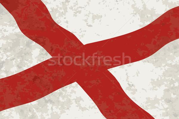 Alabama Sate Flag Grunge Stock photo © Bigalbaloo