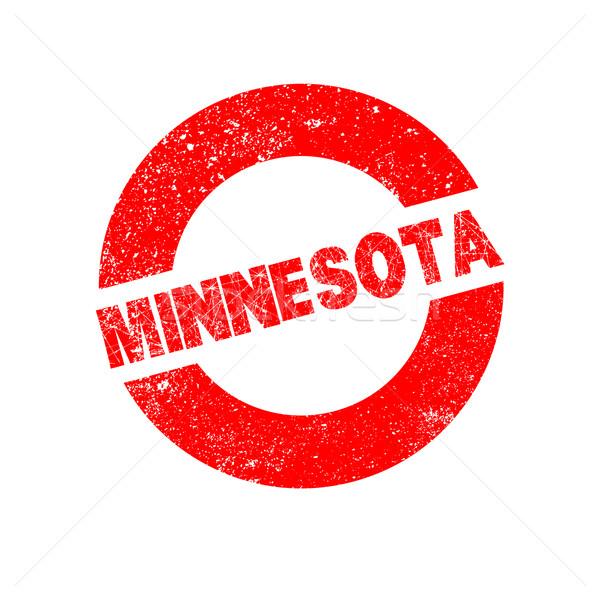 Gumi tinta bélyeg Minnesota szöveg Stock fotó © Bigalbaloo