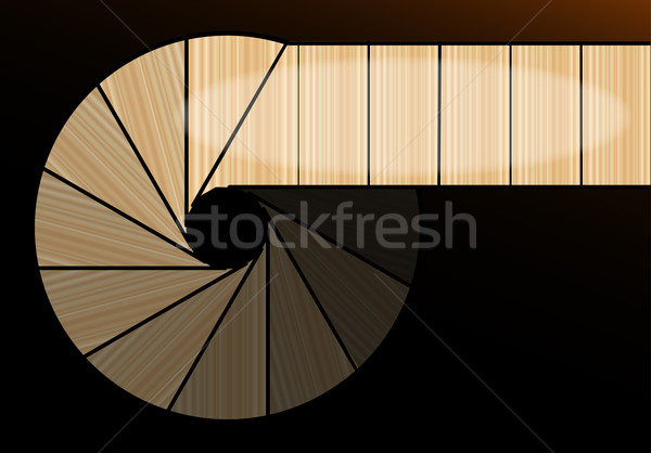 A Darkened Spiral Staircase Stock photo © Bigalbaloo