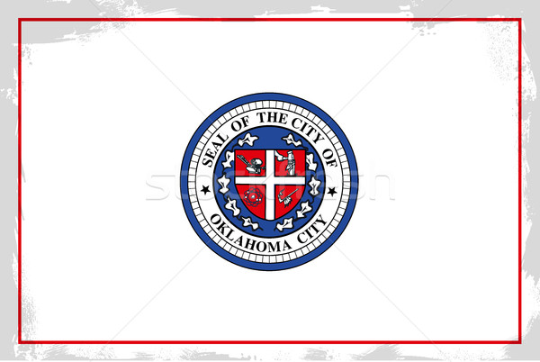 Oklahoma stad vlag achtergrond tekening Californië Stockfoto © Bigalbaloo