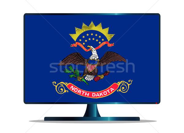 север флаг телевизор экране компьютера компьютер контроля Сток-фото © Bigalbaloo