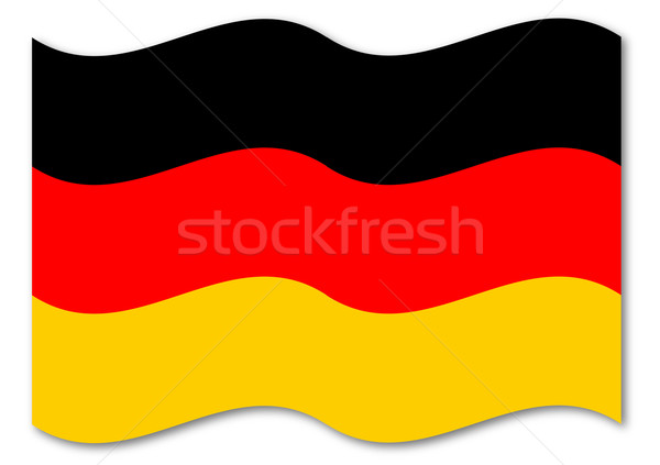 German Flag Stock photo © Bigalbaloo