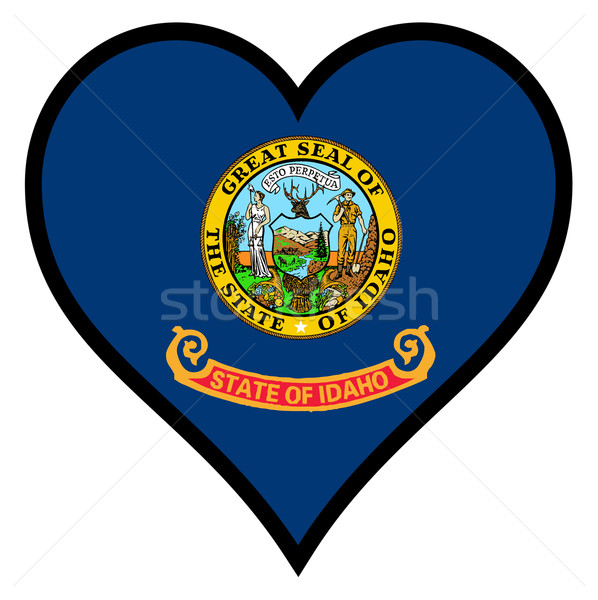 Amor Idaho bandeira coração branco Foto stock © Bigalbaloo