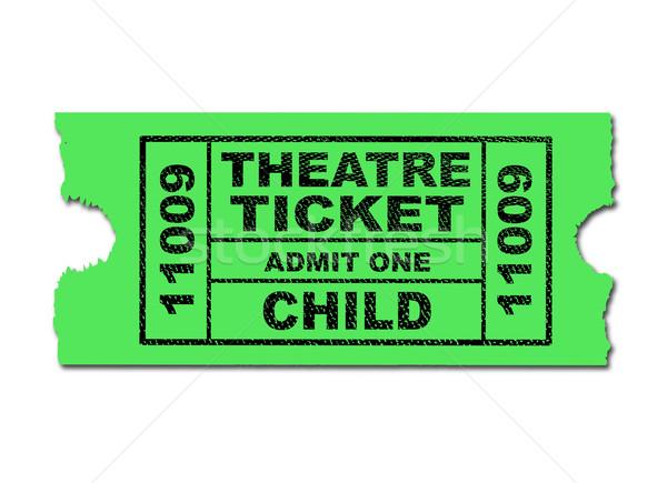 Theatre Ticket Child Stock photo © Bigalbaloo
