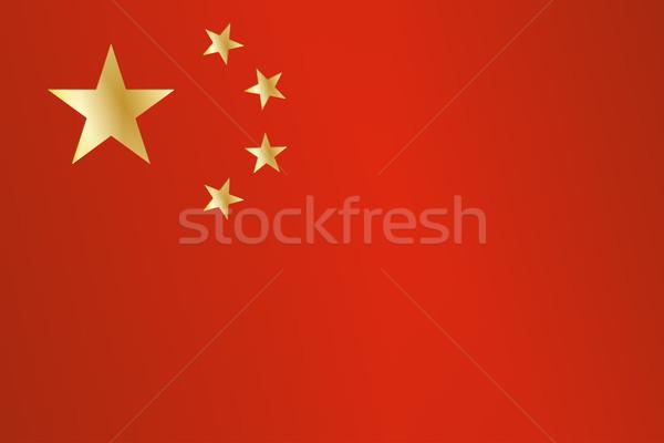 Chinese Flag Stock photo © Bigalbaloo