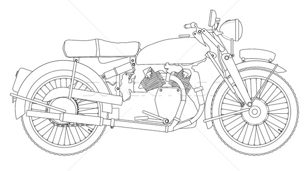 Motor Cycle Outline Stock photo © Bigalbaloo
