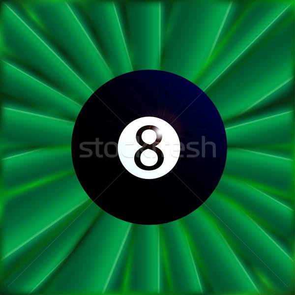 восемь мяча зеленый типичный снукер материальных Сток-фото © Bigalbaloo