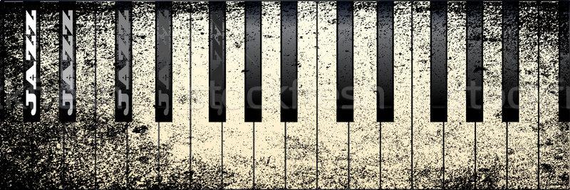 джаза фортепиано клавиши пианино Гранж стиль легенда Сток-фото © Bigalbaloo