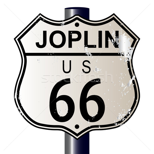 Stock photo: Joplin Route 66 Sign