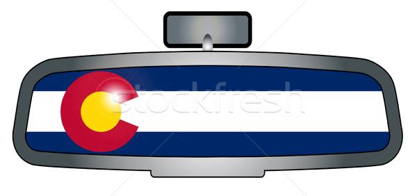 Sürücü Colorado araç ayna bayrak Stok fotoğraf © Bigalbaloo