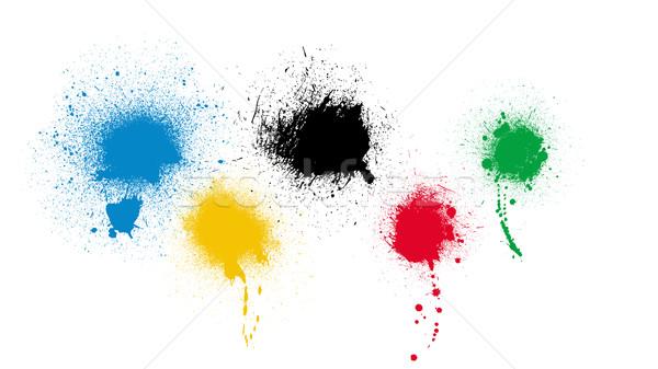 Sport team spatten sportteam kleur witte Stockfoto © Bigalbaloo