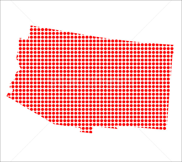 Red Dot Map of Arizona Stock photo © Bigalbaloo