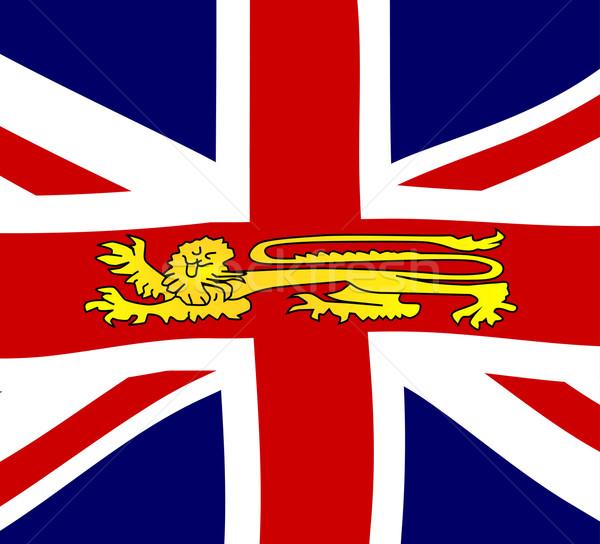 британский лев британский флаг флаг эмблема синий Сток-фото © Bigalbaloo