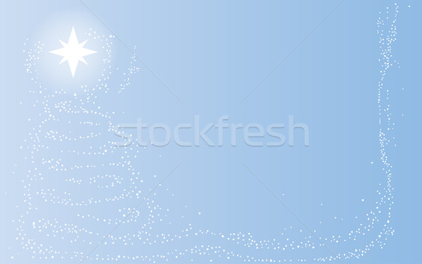 Starlight Christmas Tree Stock photo © Bigalbaloo