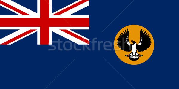 Dél-Ausztrália zászló ausztrál illusztráció senki Stock fotó © Bigalbaloo