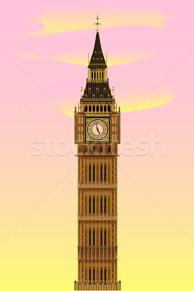 Big Ben at Dawn Stock photo © Bigalbaloo