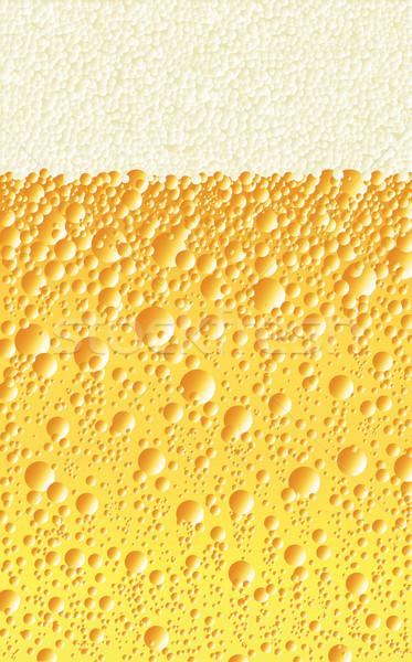 Alkoholos ital buborékok pezsgő ital fej rajz Stock fotó © Bigalbaloo
