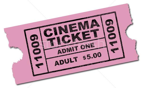 Cinema Ticket Stock photo © Bigalbaloo