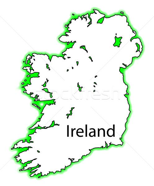 Irlanda mapa tanto norte Foto stock © Bigalbaloo