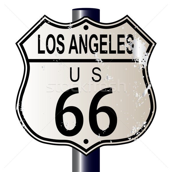 Stock photo: Los Angeles Route 66 Sign