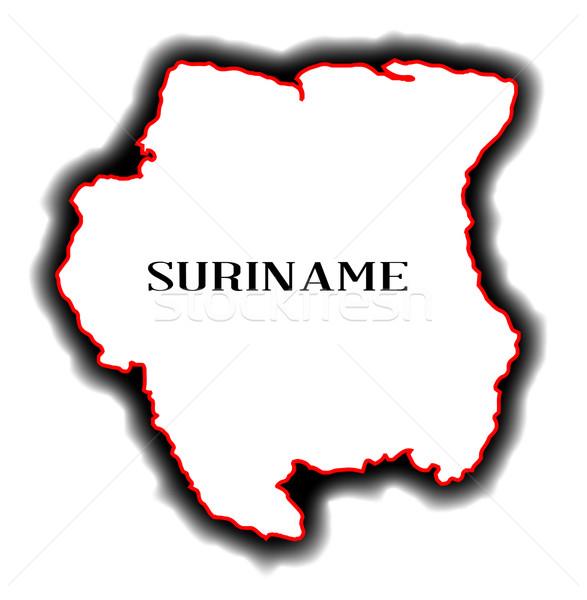 Суринам карта стране рисунок Сток-фото © Bigalbaloo