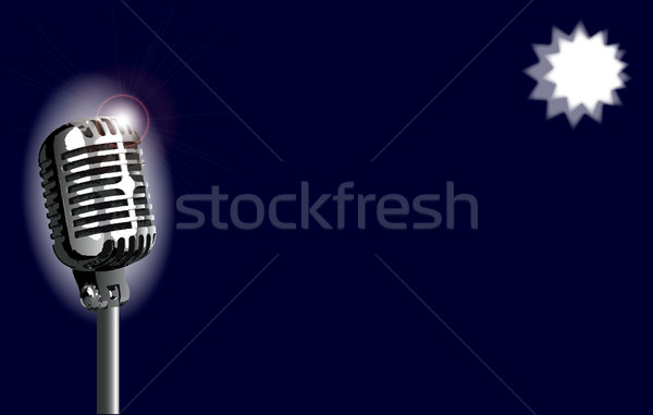 Karaoke Stage Night Stock photo © Bigalbaloo