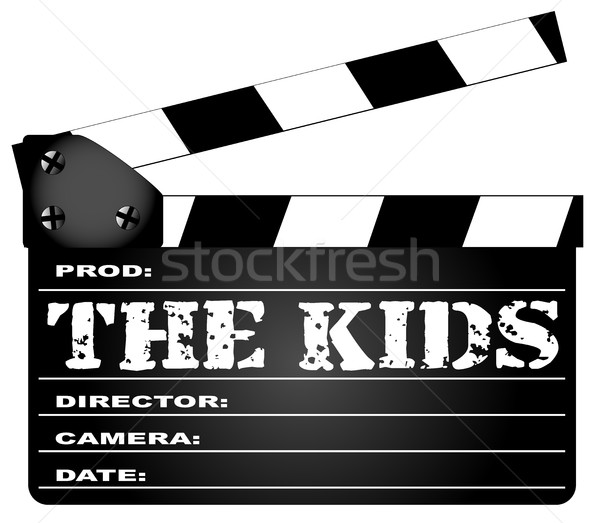 The Kids Clapperboard Stock photo © Bigalbaloo