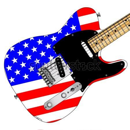 Brit zászló gitár hagyományos szilárd test elektromos gitár Stock fotó © Bigalbaloo