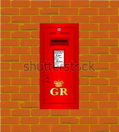 Post Mounted Post Box. Stock photo © Bigalbaloo
