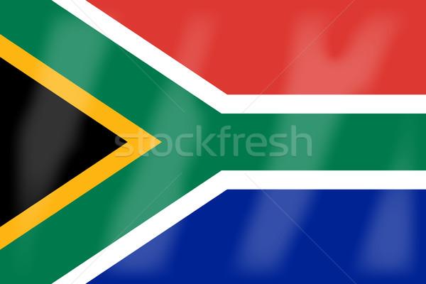 南アフリカ フラグ アフリカ 国 アフリカ ストックフォト © Bigalbaloo
