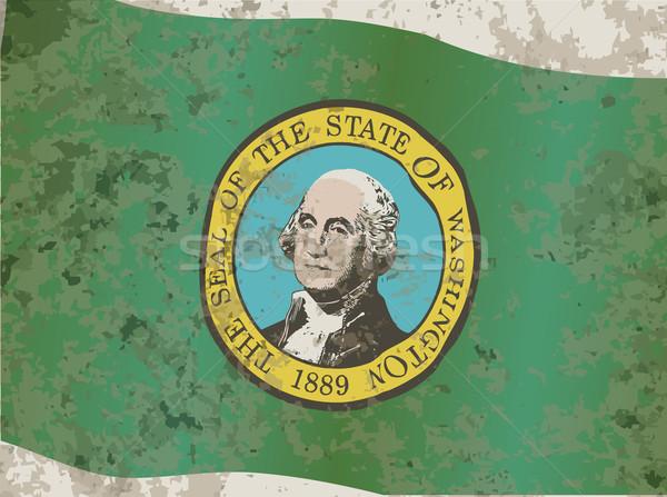 Zászló Washington fóka téma Stock fotó © Bigalbaloo