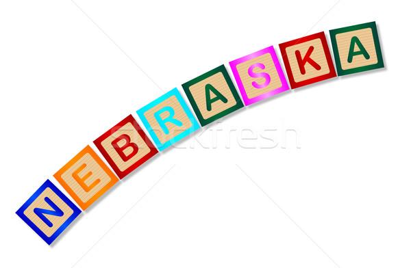 Nebraska cartas coleção ortografia branco Foto stock © Bigalbaloo