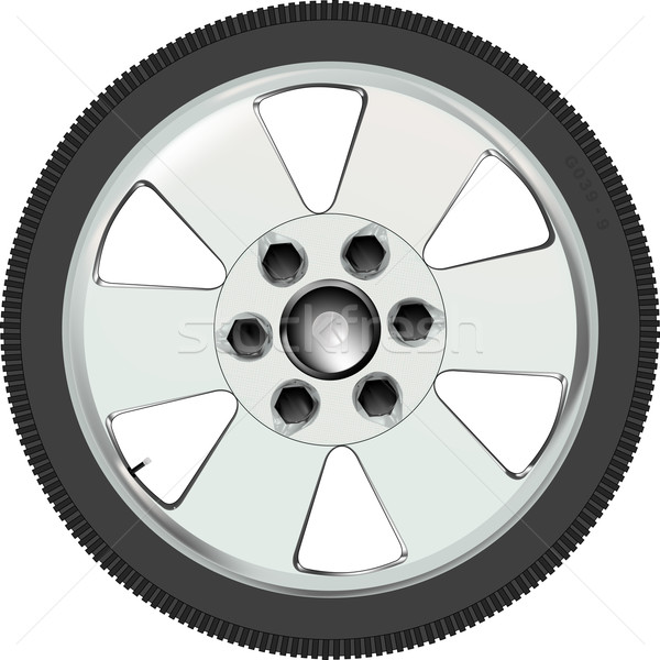 Aluminium Car Wheel Stock photo © Bigalbaloo