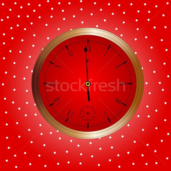 Navidad reloj Navidad año nuevo invierno Foto stock © Bigalbaloo